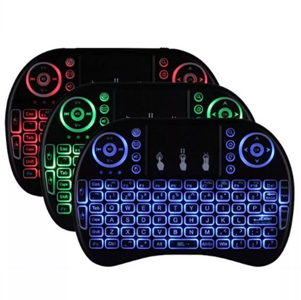 Mini Teclado Keyboard Sem Fio Wireless Luz LED