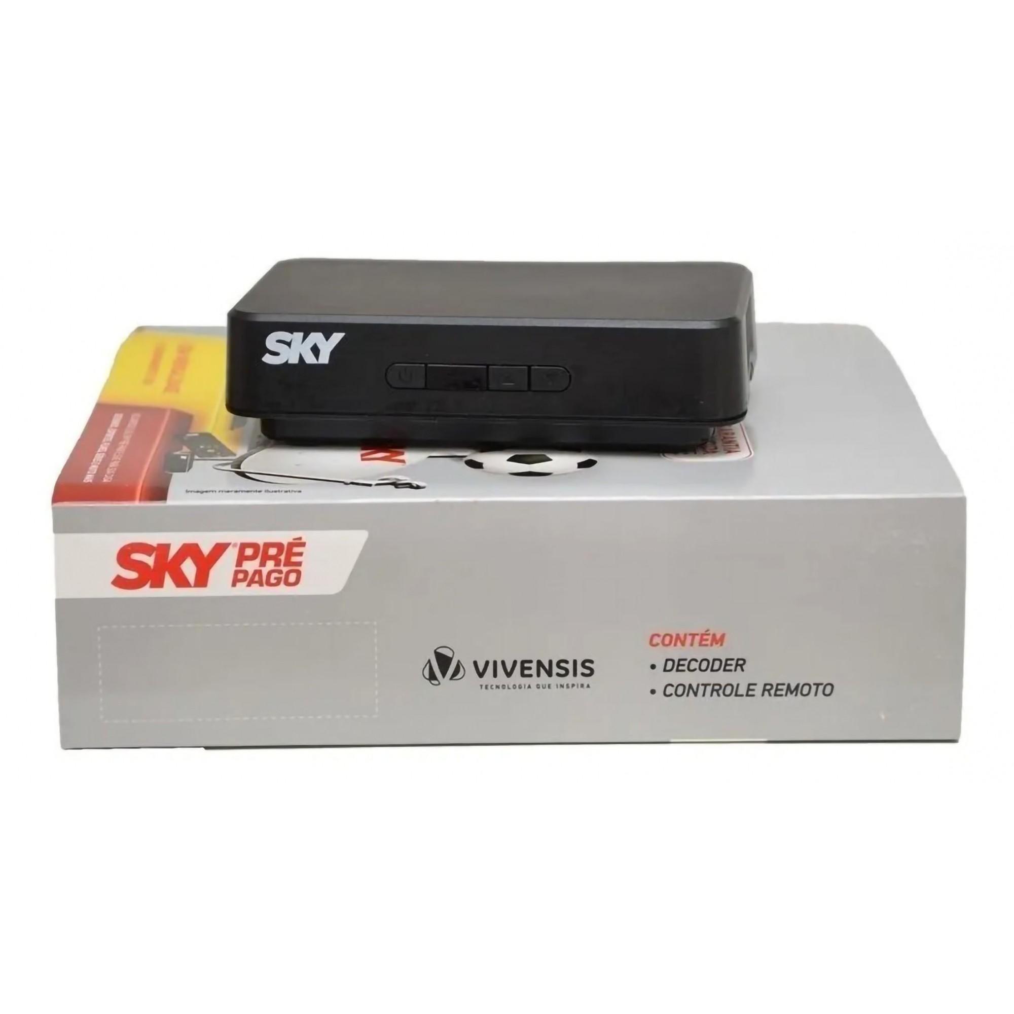 Receptor Digital Sky Pré-Pago SD  com Conectividade RCA