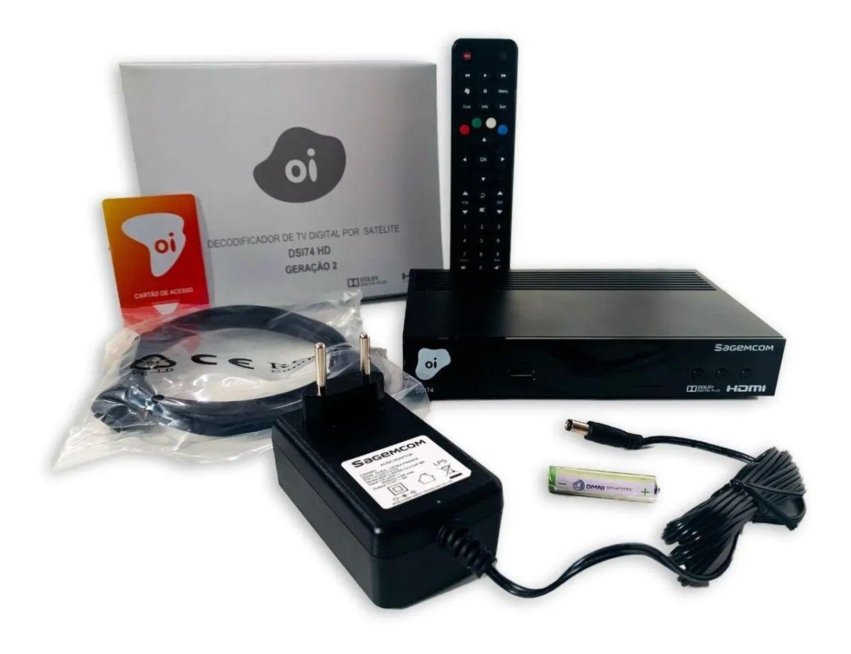 Receptor OI TV Livre Digital HD via Satélite