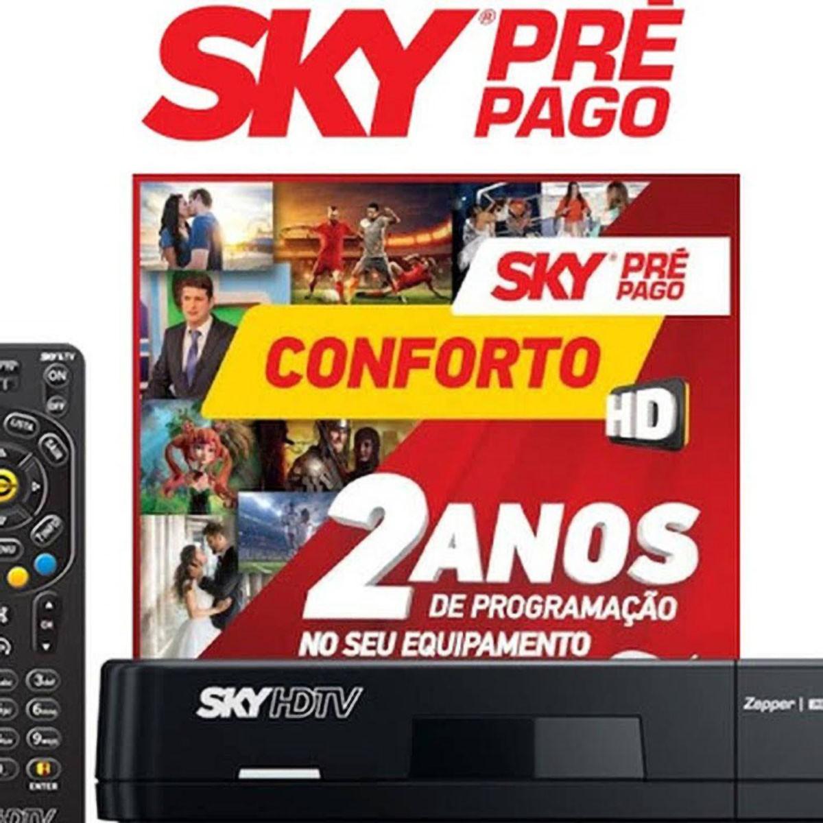 Receptor Sky Conforto  Flex HD 24 Meses sem mensalidade