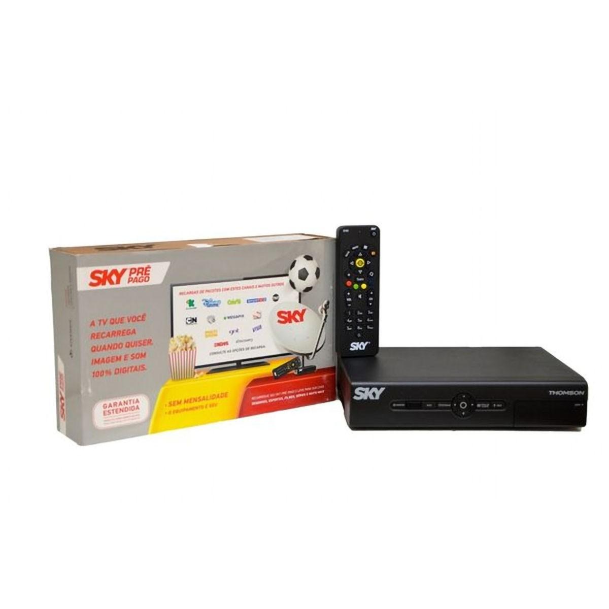 Receptor SKY Digital SD Conectividade AV Conforto 24 meses sem mensalidade com Globo e SBT