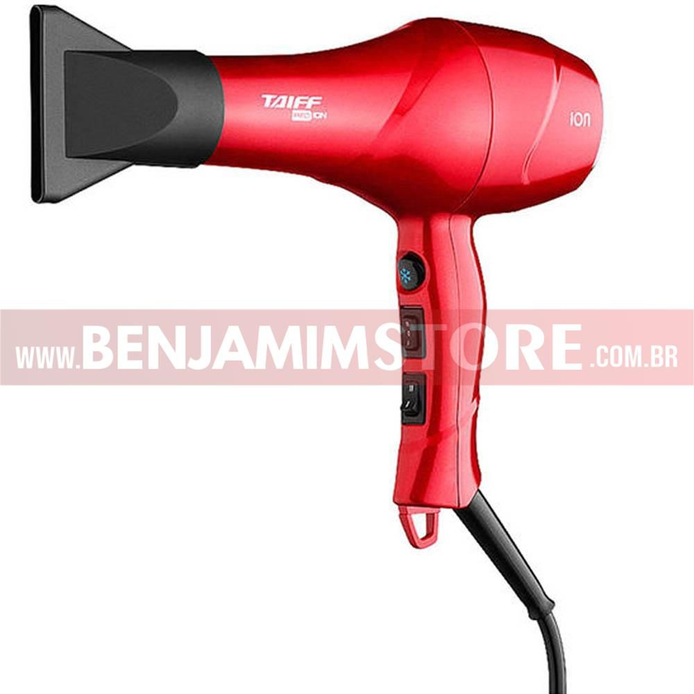Secador Taiff Red Ion 1900w + Modelador Curves + Chapinha Red Ion