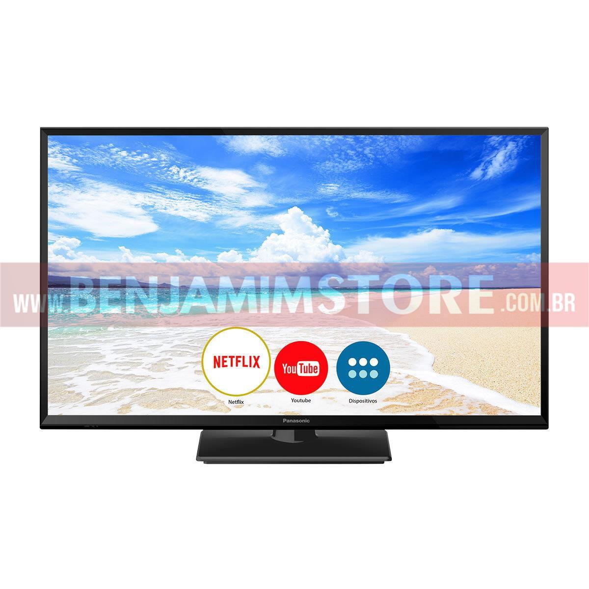 Smart TV LED 32 Panasonic TC-32FS600B HD, Wi-Fi, 1 USB, 2 HDMI, Bluetooth