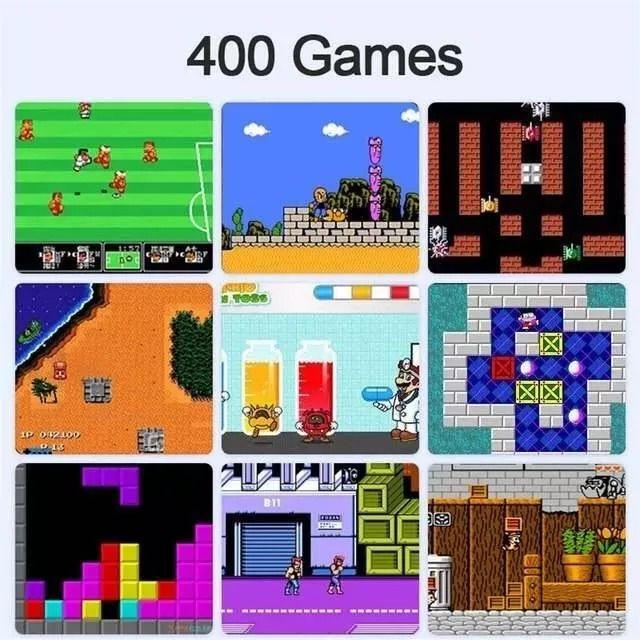 Super Game RETRO Portátil  400  Jogos em 1 Plus Nitendo Jogos Clássicos