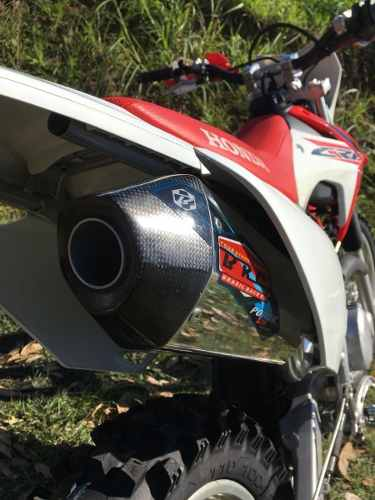 PONTEIRA ESCAPE + CURVA BRC BIG BORE CARBON HONDA CRF-250F