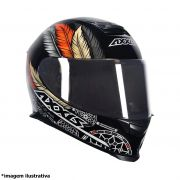 CAPACETE AXXIS EAGLE DREAMS GLOSS PRETO OCRE