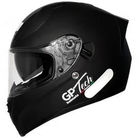 CAPACETE GP TECH V128 MONOCOLOR SV PRETO FOSCO