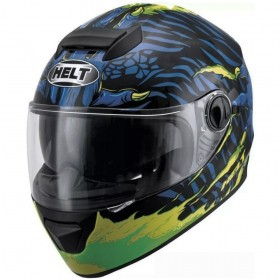 CAPACETE HELT NEW RACE GLASS MONSTER AZUL
