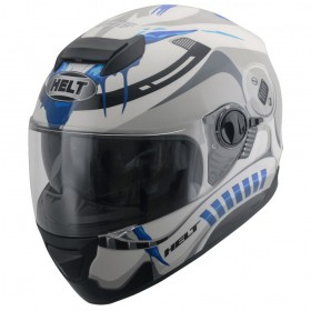 CAPACETE HELT NEW RACE GLASS STORM BRANCO