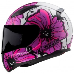 CAPACETE LS2 FF 353 RAPID POPPIES ROSA