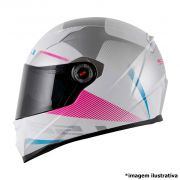 CAPACETE LS2 FF 358 TYRELL BRANCO ROSA