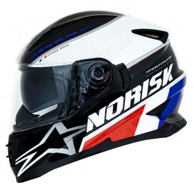 CAPACETE NORISK FF 302 GRAND PRIX FRANCE PRETO