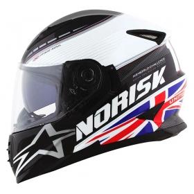 CAPACETE NORISK FF 302 GRAND PRIX UK PRETO