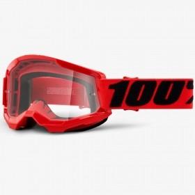 ÓCULOS 100% STRATA 2 RED VERMELHO CLEAR