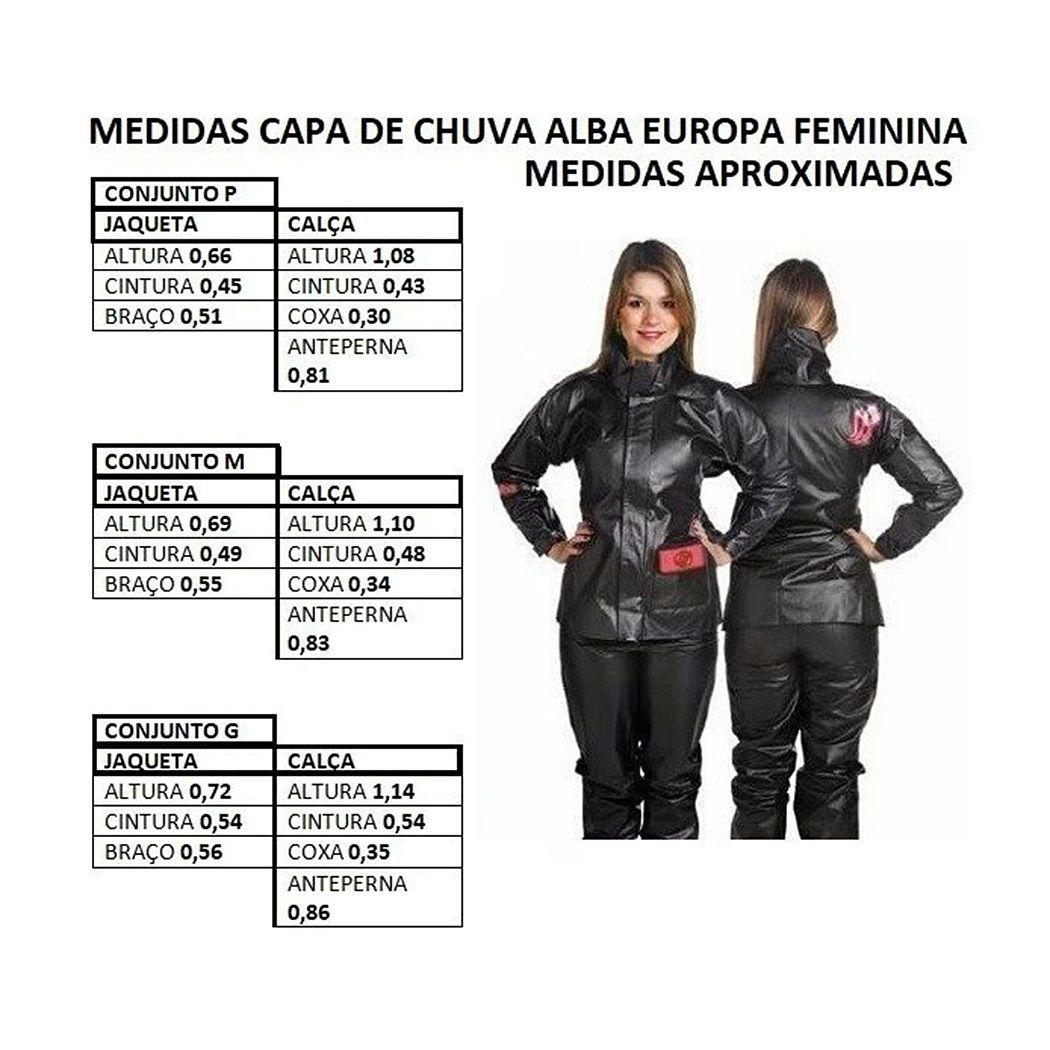 CAPA CHUVA ALBA EUROPA FEMININA PRETA
