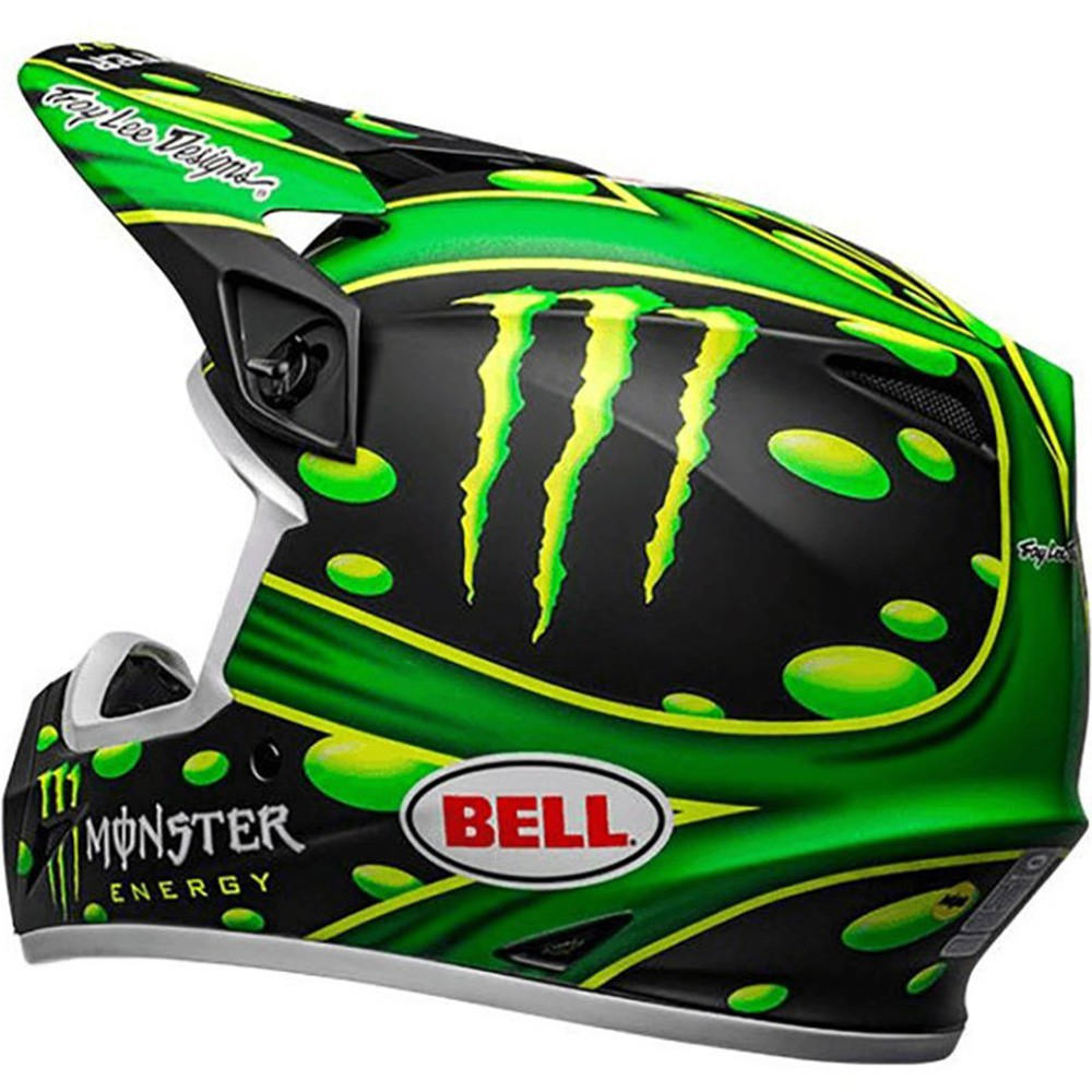 CAPACETE BELL MX-9 MIPS MONSTER ENERGY SHOWTIME PRETO FOSCO