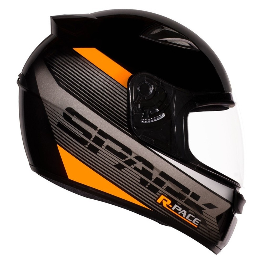CAPACETE EBF NEW SPARK R PACE FOSCO