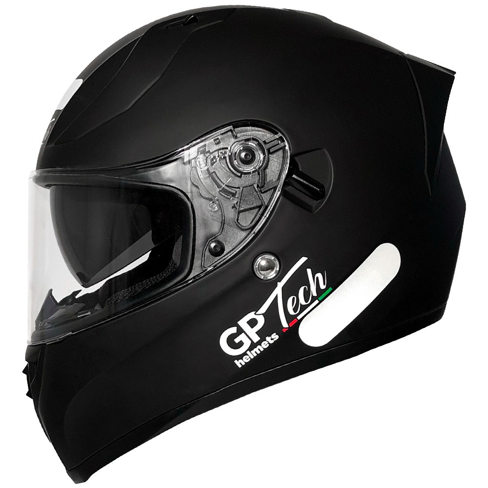 CAPACETE GP TECH V128 MONOCOLOR PRETO FOSCO