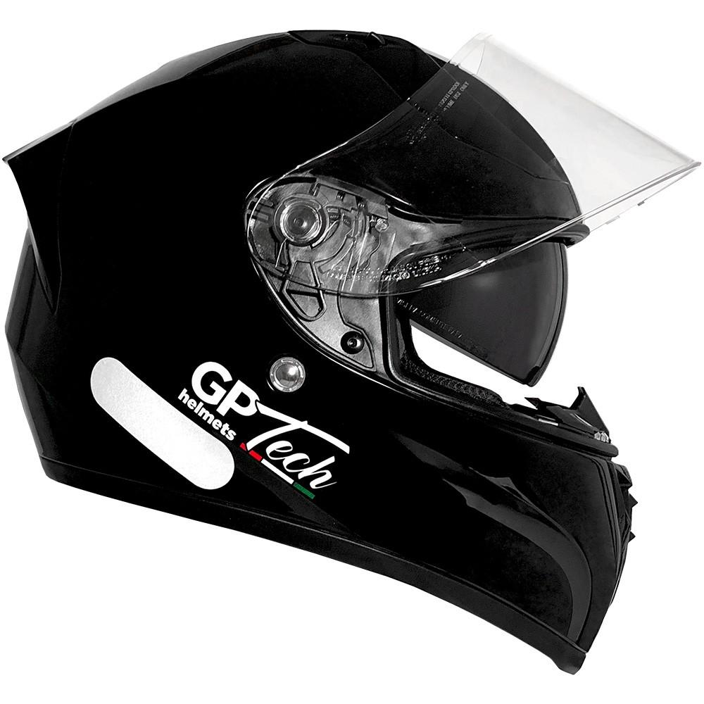 CAPACETE GP TECH V128 MONOCOLOR SV PRETO BRILHANTE