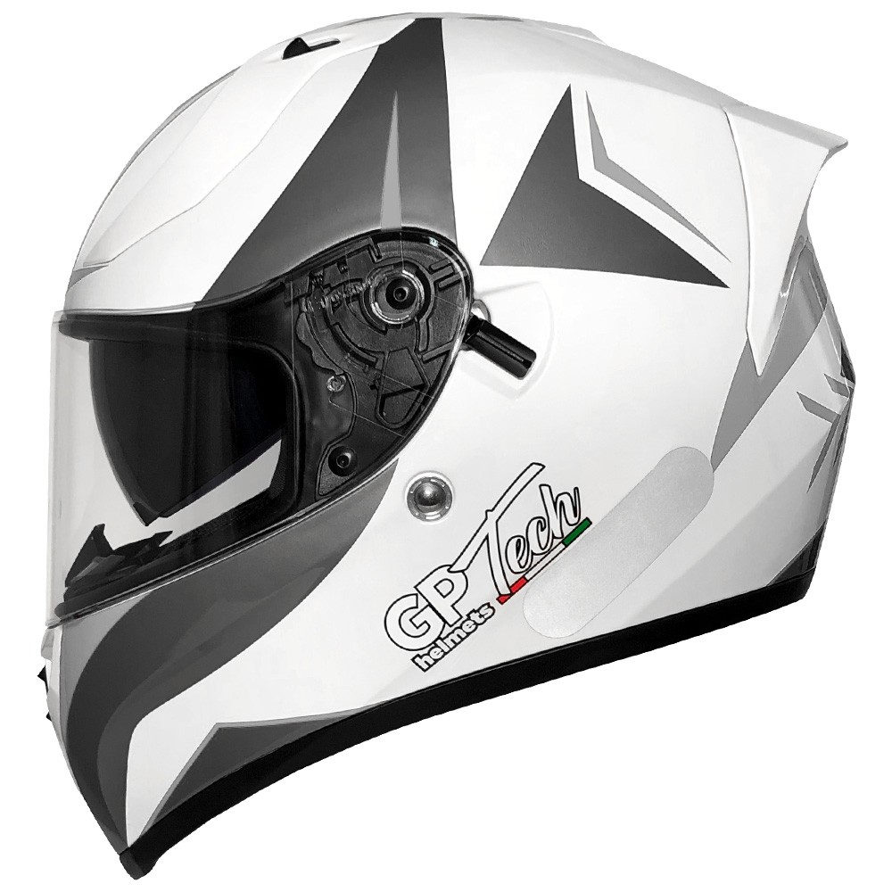CAPACETE GP TECH V128 VELOCITY SV BRANCO FOSCO
