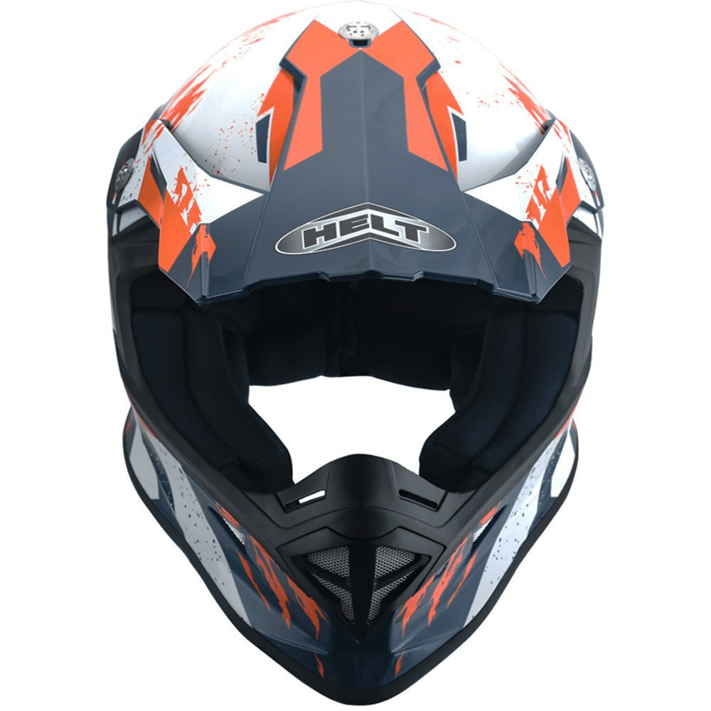 CAPACETE HELT CROSS MX TRACTION LARANJA