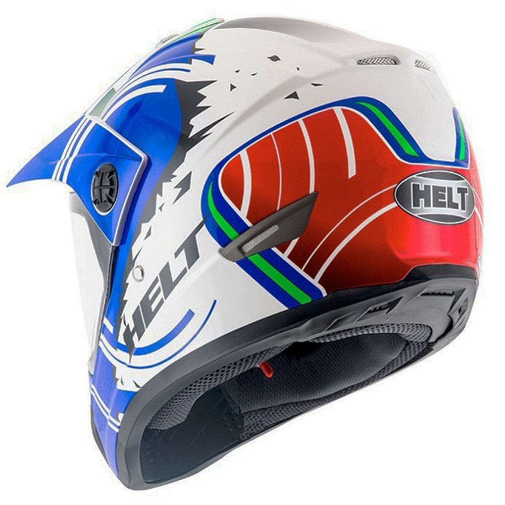CAPACETE HELT CROSS VISION ITALY AZUL
