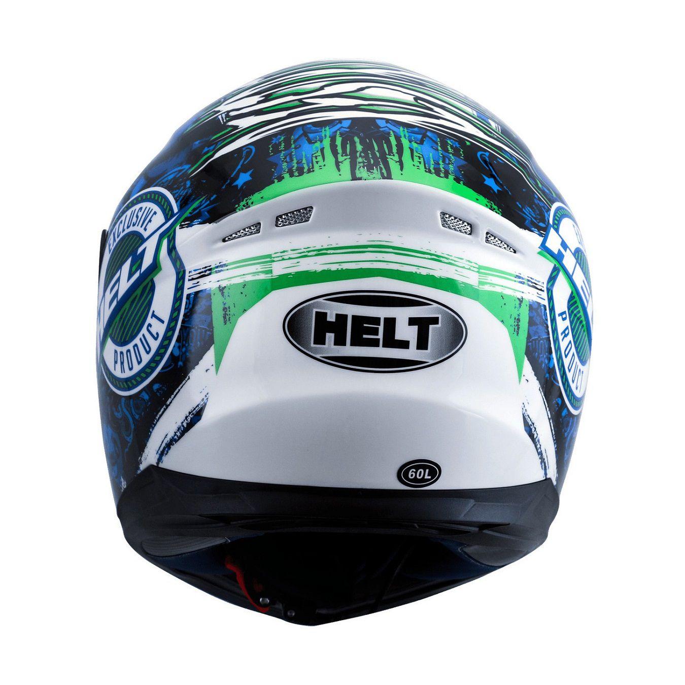 CAPACETE HELT NEW RACE AQUARIUM BRANCO