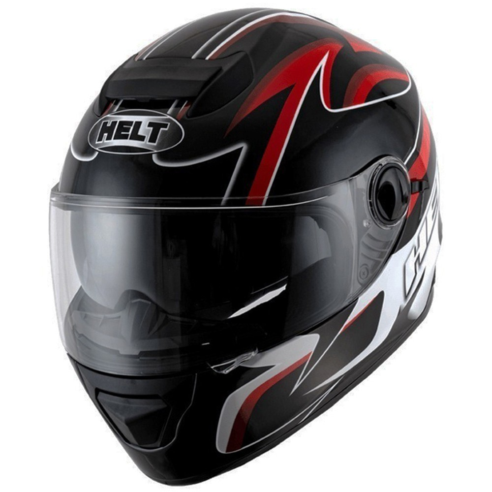 CAPACETE HELT NEW RACE GLASS BELL PRETO