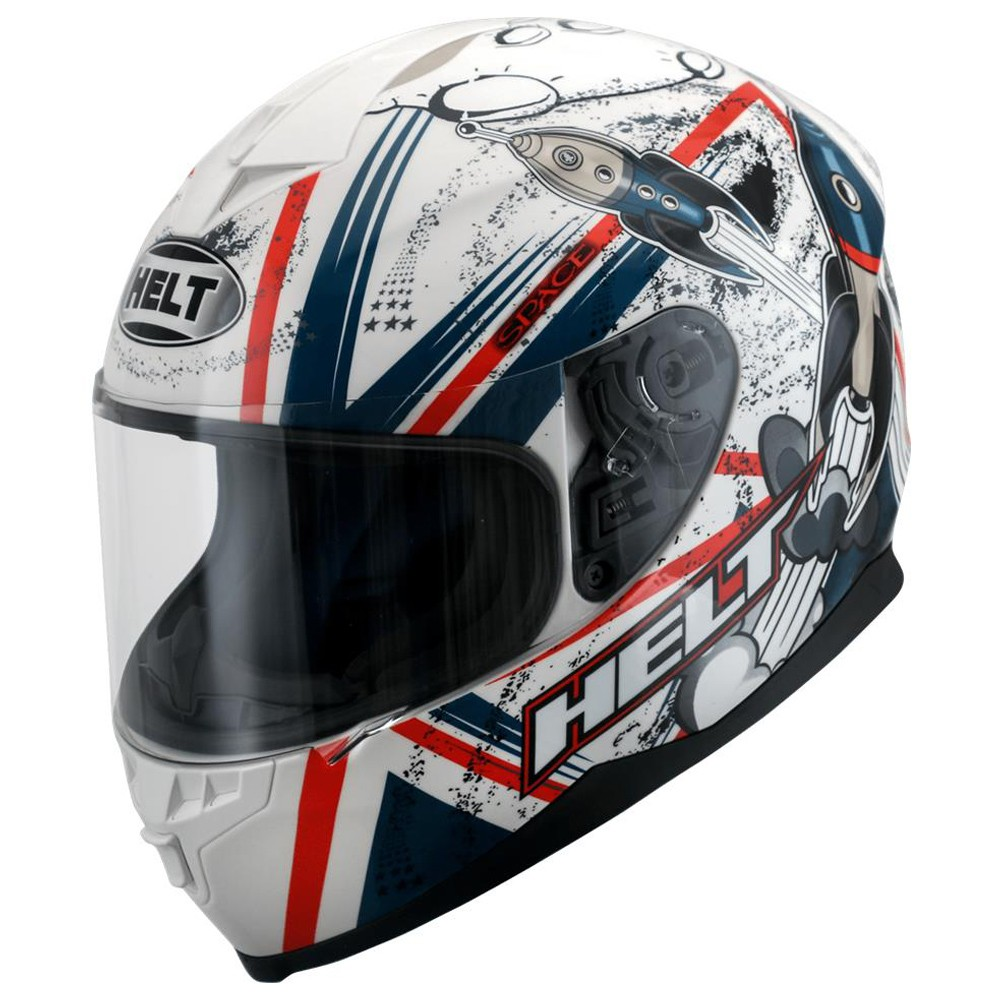 CAPACETE HELT NEW RACE SPACE BRANCO