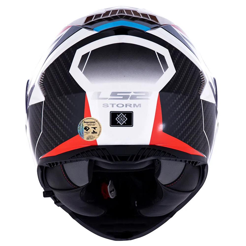 CAPACETE LS2 FF 800 STORM RACER BRANCO