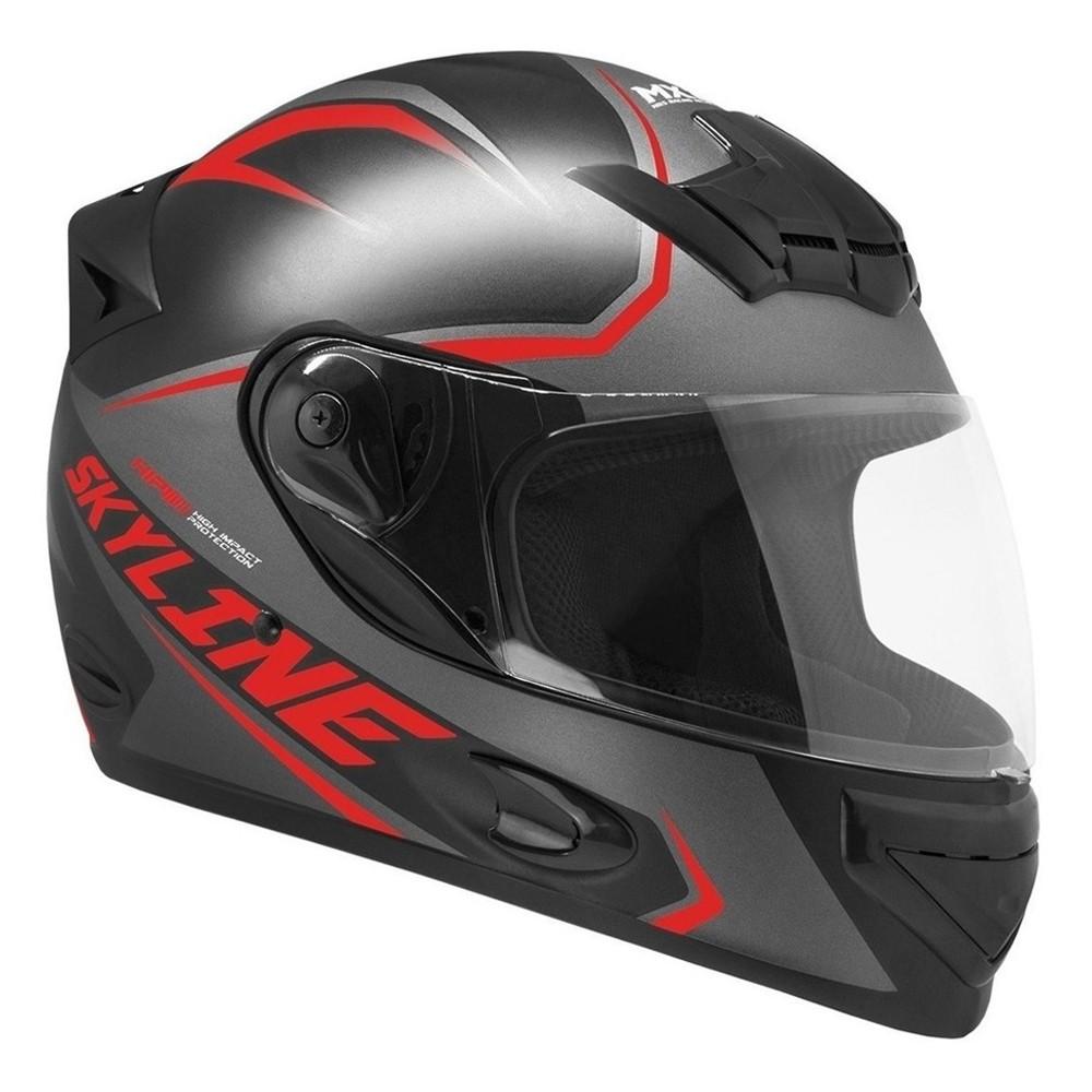 CAPACETE MIXS MX2 SKYLINE FOSCO