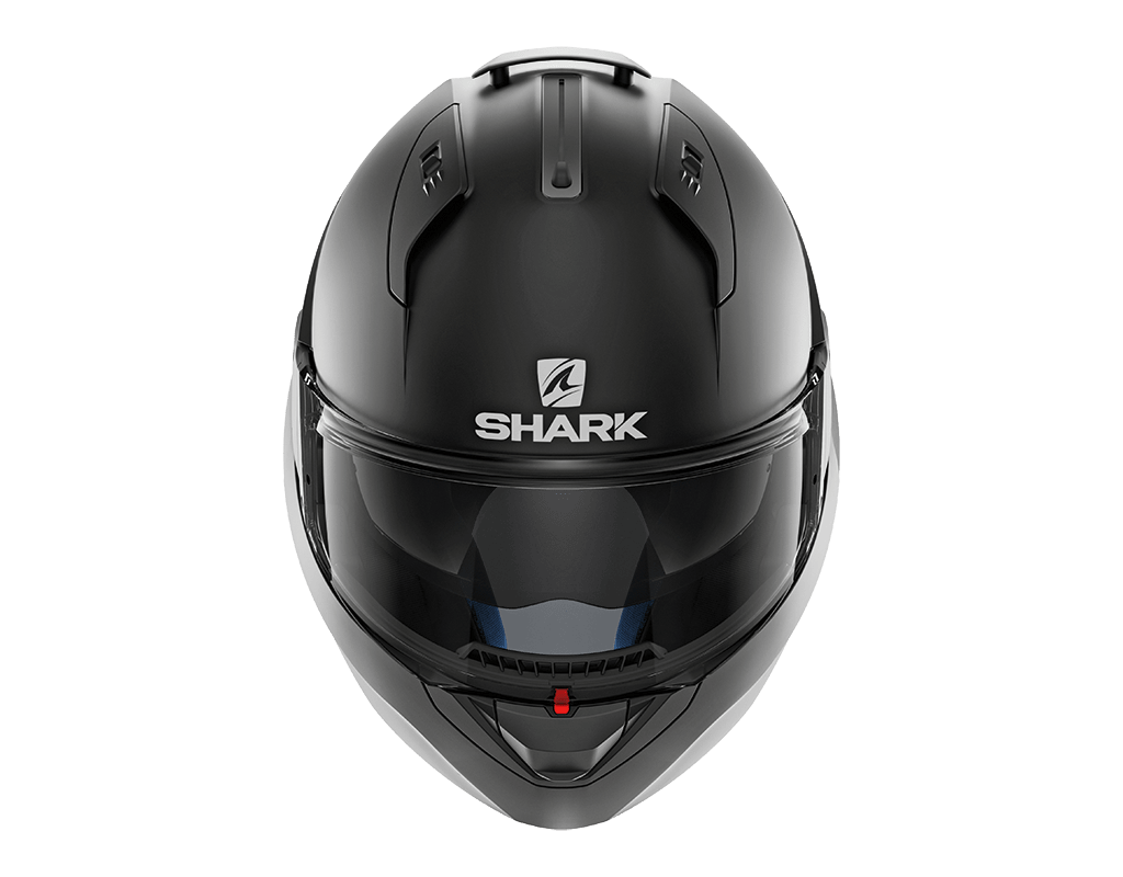 CAPACETE SHARK EVO ONE V2 BLANK MATT KMA PRETO FOSCO