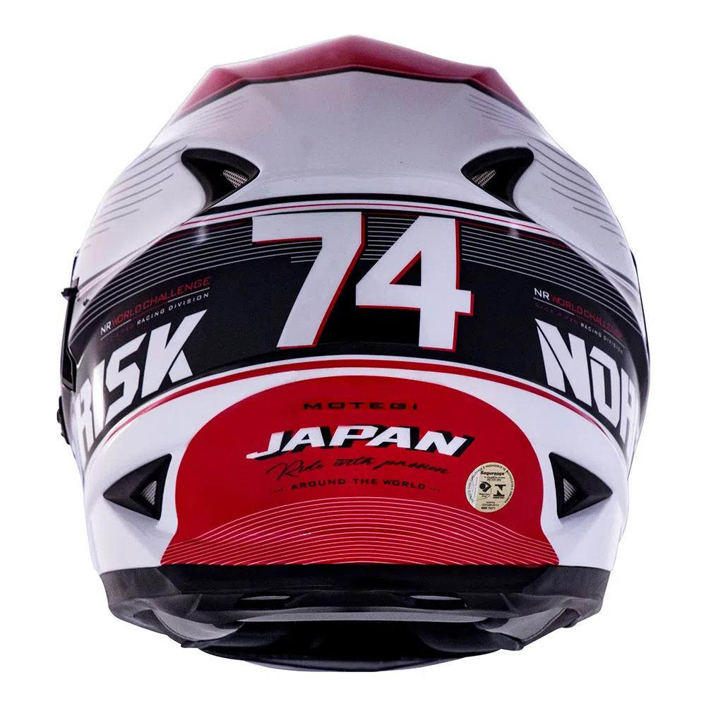 CAPACETE NORISK FF 302 GRAND PRIX JAPAN BRANCO