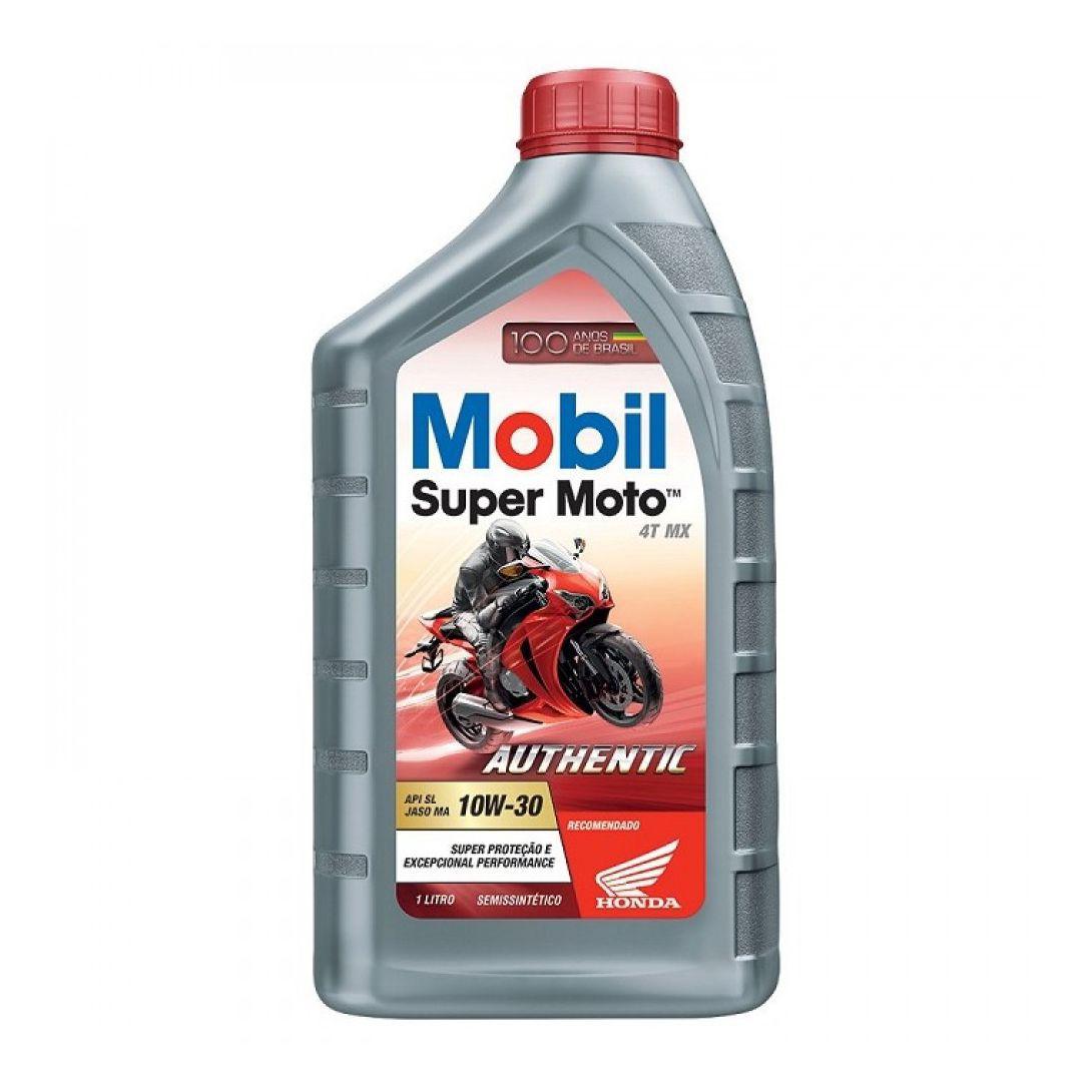 ÓLEO MOTOR 4T MOBIL SUPER MOTO AUTHENTIC 10W30 SEMISSINTÉTICO 1LT