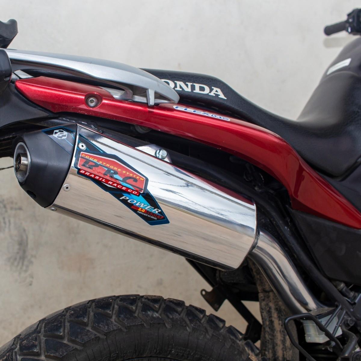 PONTEIRA ESCAPE + CURVA BRC POWER FIBRA HONDA CRF-250F