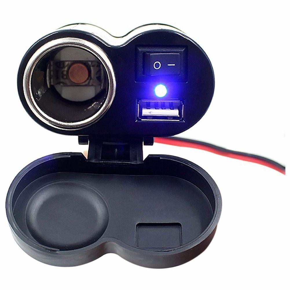 TOMADA USB P/ MOTO CARREGADOR SMARTPHONE ACENDEDOR CIGARRO