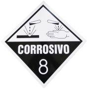 Placa Advertência Corrosivo 8 - PT/BR