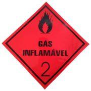 Placa Advertência Gás Inflamável 2 VM