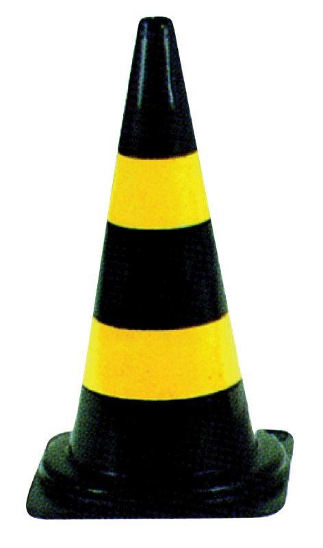 Cone em borracha AMARELO E PRETO 75CM - NEXUS  - NEXUSEPI