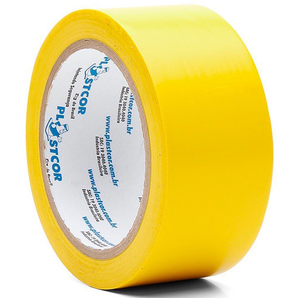 Fita Plastica Demarcação de Chão AMARELA 30m - PLASTCOR  - NEXUSEPI