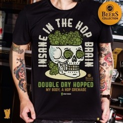 CAMISETA ALL BEERS - INSANE IN THE HOP BRAIN