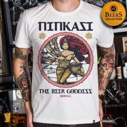 CAMISETA ALL BEERS NINKASI - OFF WHITE