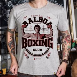 CAMISETA ROCKY BALBOA BOXING CLUB - MESCLA