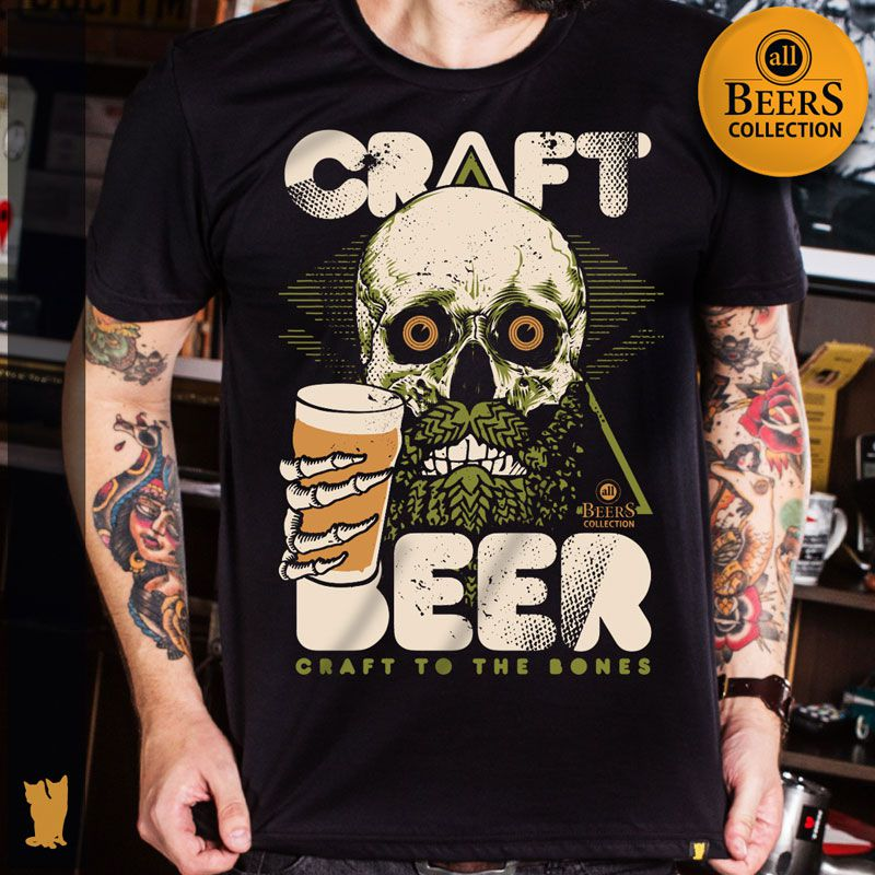 CAMISETA ALL BEERS CRAFT TO THE BONES
