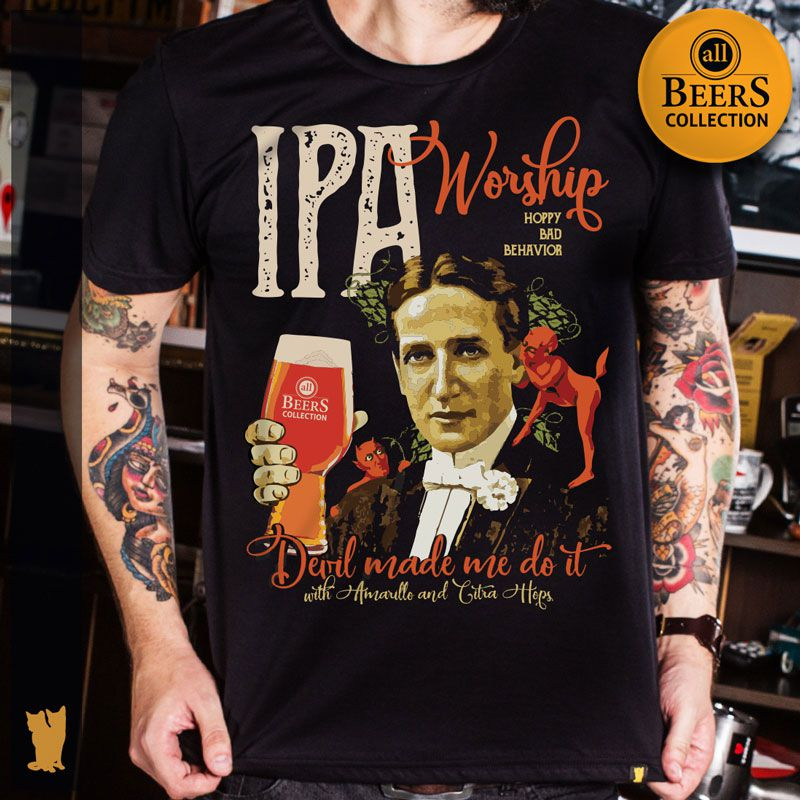 CAMISETA ALL BEERS IPA WORSHIP