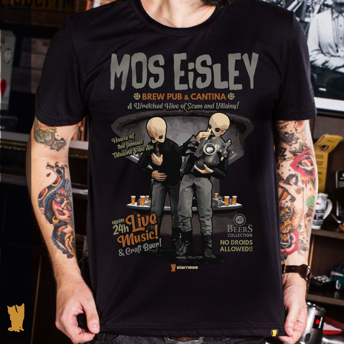 CAMISETA ALL BEERS - MOS EISLEY BREW PUB