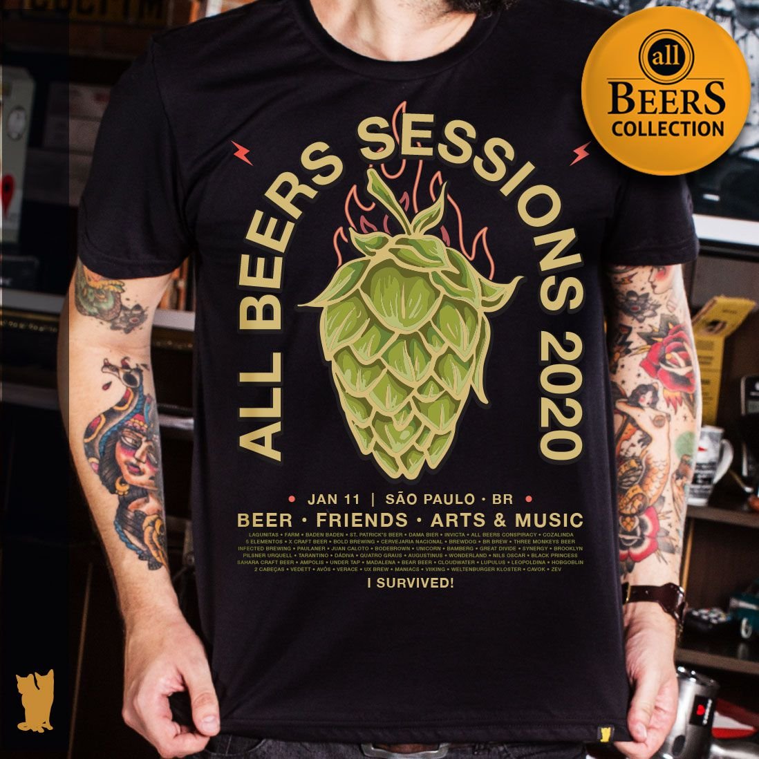 CAMISETA ALL BEERS SESSIONS 2020