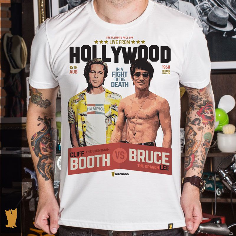 CAMISETA CLIFF BOOTH VS BRUCE LEE - OFF WHITE
