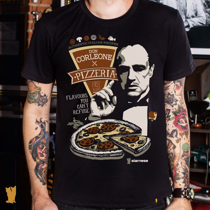 CAMISETA DON CORLEONE PIZZERIA