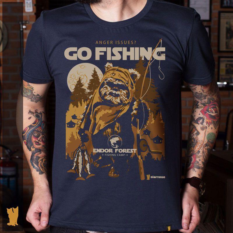 CAMISETA EWOK GO FISHING